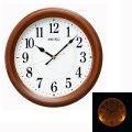暗くなるとライトが点灯する壁掛け時計 電波時計 掛時計 KX204B セイコー SEIKO 文字入れ対応、有料 取り寄せ品