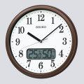 温度・湿度表示付き 電波時計 壁掛け時計 掛時計 KX244B セイコー SEIKO 文字入れ対応、有料