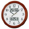 温度・湿度・デジタルカレンダー 電波時計 壁掛け時計 掛時計 KX369B セイコー SEIKO 文字入れ対応《有料》 取り寄せ品