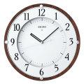 暗くなると秒針を止め 音がしない 電波時計 壁掛け時計 掛時計 連続秒針 KX373B セイコー SEIKO 文字入れ対応、有料