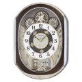 セイコーからくり時計 電波時計 掛け時計 RE578B ウェーブシンフォニー 文字入れ対応、有料 送料無料 取り寄せ品