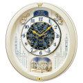 セイコーからくり時計 電波時計 壁掛け時計 RE579B ウェーブシンフォニー 文字入れ対応、有料 取り寄せ品