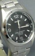 シチズン 夜光付き 10気圧防水の男性用ソーラー電波腕時計レグノ RS25-0343H 名入れ刻印対応、有料