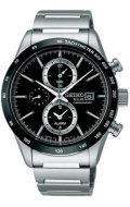 セイコー クロノグラフ ソーラー メンズ腕時計 SBPY119 SEIKO SPIRIT 男性用 名入れ刻印対応、有料 取り寄せ品