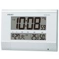チャイム メロディを任意の時刻にセット SQ435W セイコー SEIKO 温度湿度表示つき置き掛け兼用デジタル電波時計 名入れ・文字書き、有料