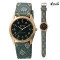 和心 わこころ WA-001M-F 畳の革バンド 日本製にこだわった腕時計 男性用 時計 電池式 送料無料 名入れ刻印対応、有料 取り寄せ品