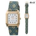 和心 わこころ 畳の革バンド WA-002M-G 日本製にこだわった腕時計 男性用 時計 電池式 送料無料 名入れ刻印対応、有料 【取り寄せ品】