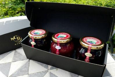 【送料無料】「森の宝石箱」ベリー 3種 (ラズベリージャム・ブラックベリージャム/コンポート)類詰め合わせ(大瓶)
