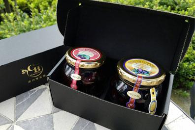 「森の宝石箱」ブルーべリー/ブラックベリーコンポート2個セット(大瓶)