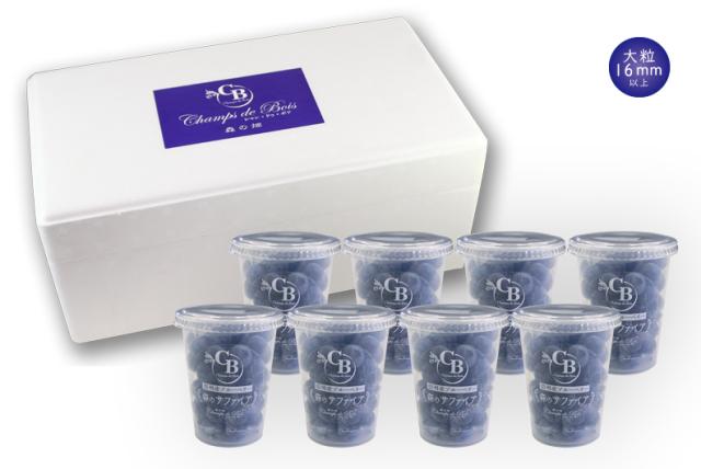 【送料無料】「森のサファイア」大粒 Lサイズ ブルーベリー冷凍果実90g 8個セット