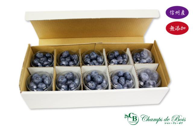 「森のサファイア」ブルーベリー生果実 70g×10個