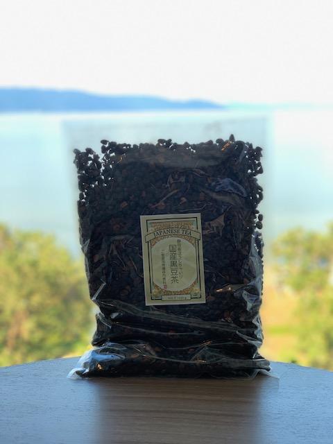 ほうじ茶入り黒豆茶1kg(北海道十勝産黒大豆100%)