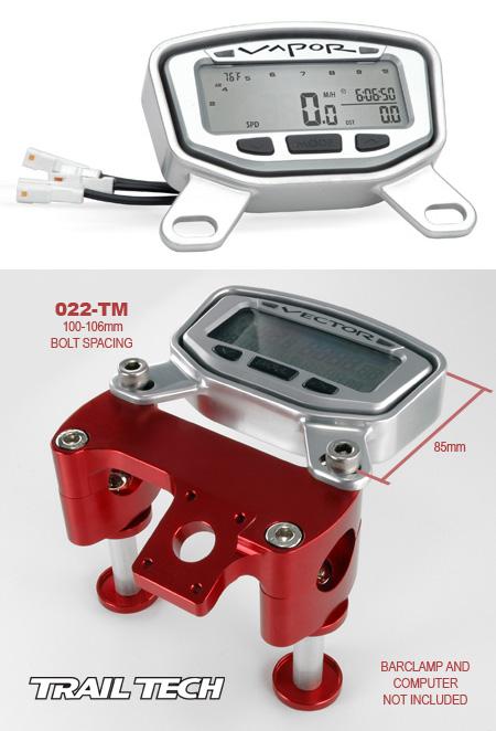VAPOR / STRIKERメーター用トップマウントプロテクター:022-TM(アルミニウムマウント)