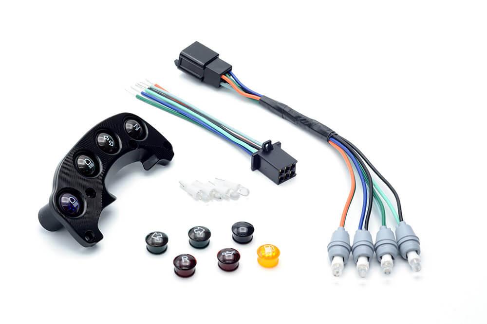 Trail Tech Voyager Proメーター用インジケーターライトダッシュボード・ブラケットマウント付