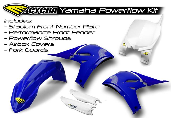 CYCRA サイクラ YAMAHA パワーフローインテークラジエターボディキット YZ450F 2010-2013