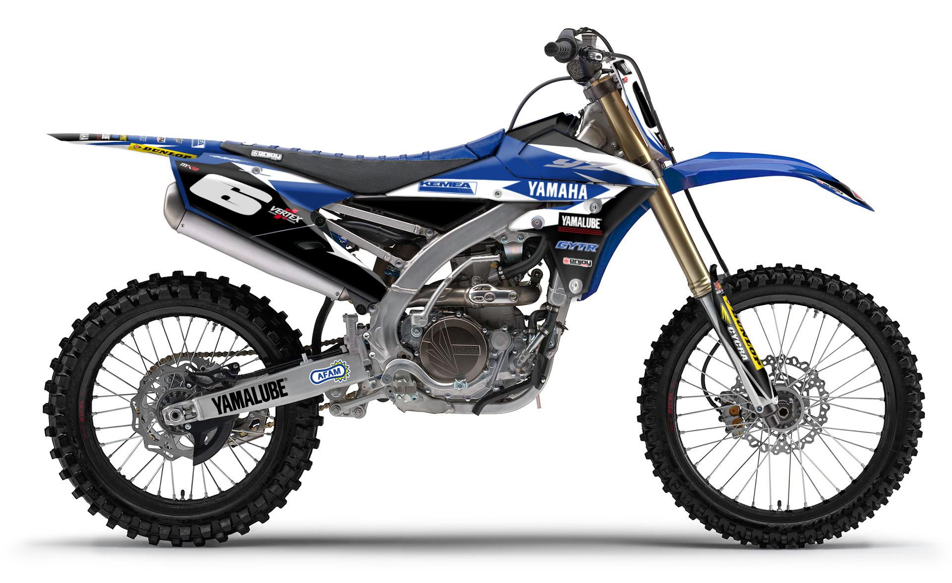 ENJOY MFG Yamaha Kemea チームデカールフルキット+シートカバー