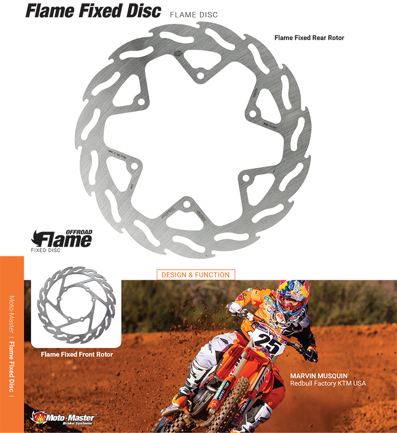 Moto-Master フレイム リアブレーキディスク