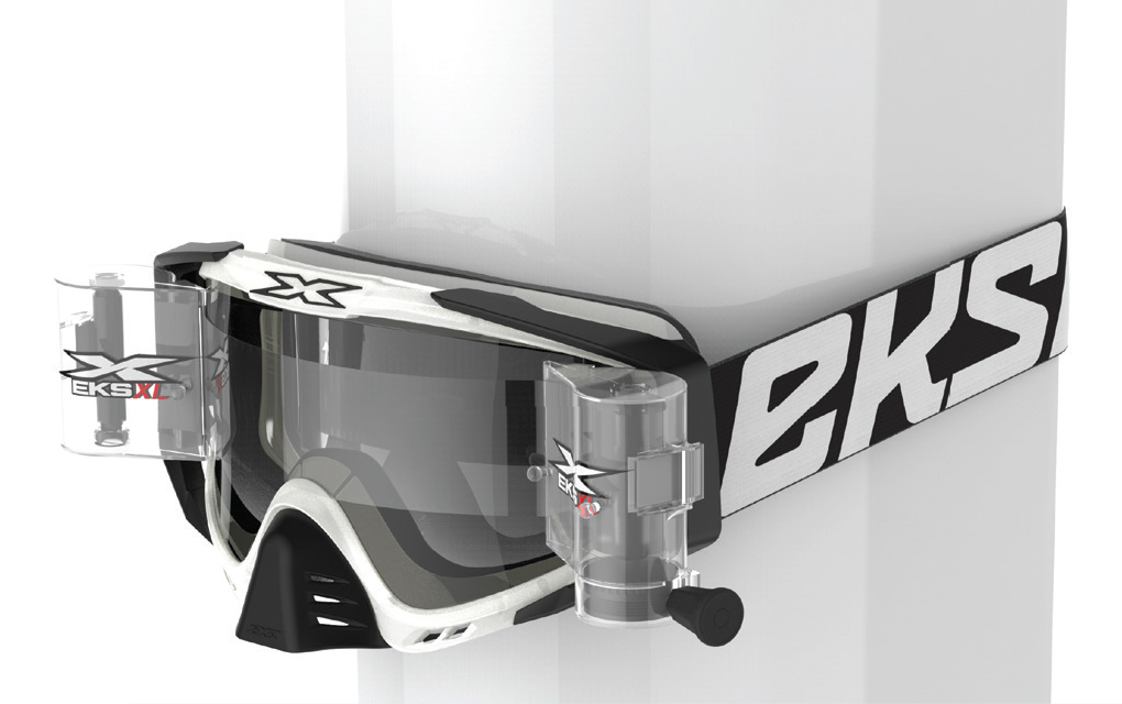 EKS-S XL ロールオフコンプリートシステムゴーグル 36mmワイド  ブラック/クリア