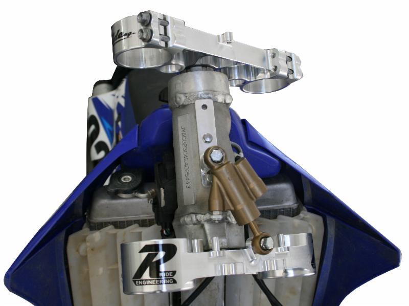 RIDE ステアリングダンパーブラケット 2014-15 YZ250F/YZ450F & 2005-2015 YZ250 2-Stroke