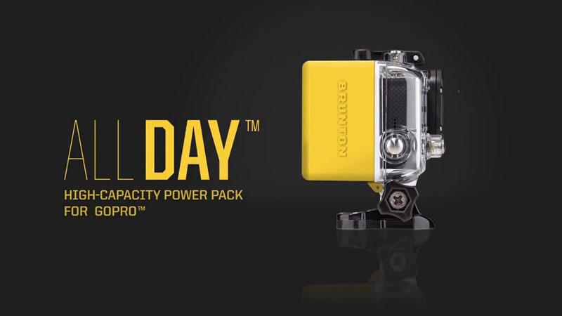 2WAYS ! GoPro Hero 3+ ハウジング専用「ALL DAY」外付けバッテリー+USB充電器