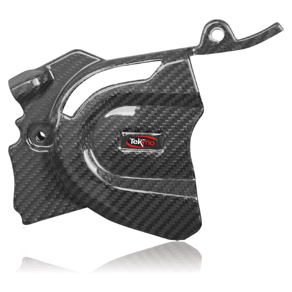 Tekmo Racing Husqvarna 701用 カーボンフロントスプロケットカバー