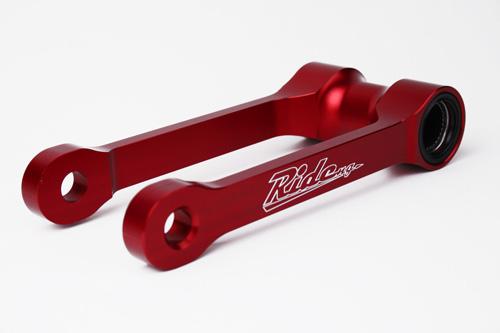 RIDE のサスペンションローダウンリンケージシステム(10mm) CRF450R (11-12) CRF250R (12-13) レッド