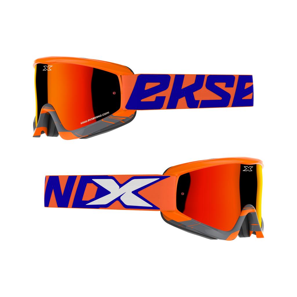 GOX クロスフェード  フローオレンジ・ブルー  EKS Brand:イーケーエスブランドゴーグル