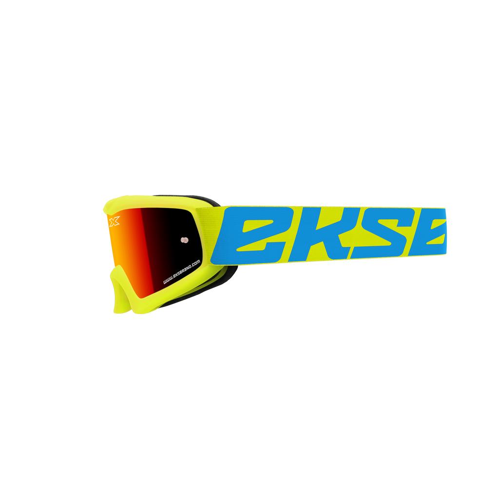 EKS-Brand  キッズ用ゴーグル ''X-GROM'' フローイエロー・ミラーレンズ