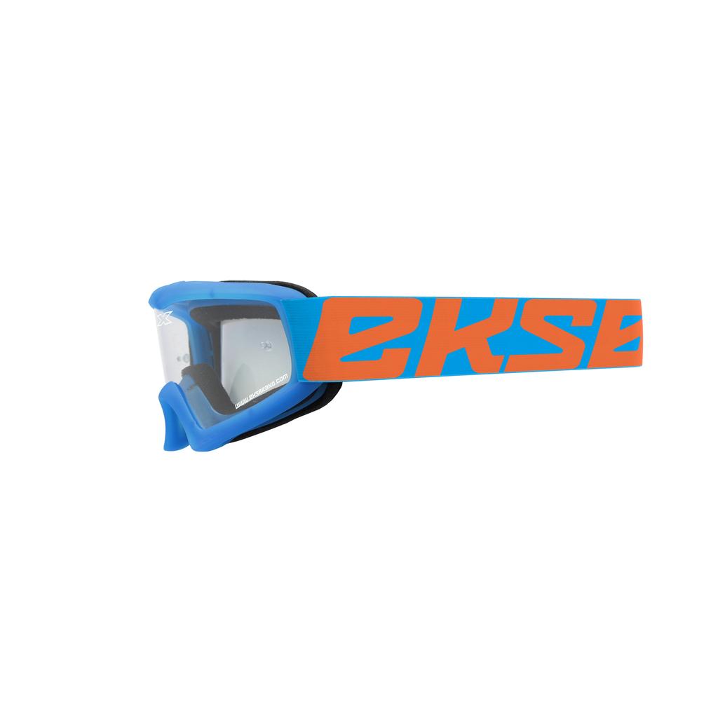 EKS-Brand  キッズ用ゴーグル ''X-GROM'' シアンブルー/フローオレンジ・クリアレンズ