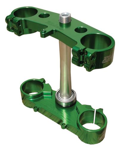 RIDE ENGINEERINGトリプルクランプキット KX450F  06-12 グリーン 20mm オフセット
