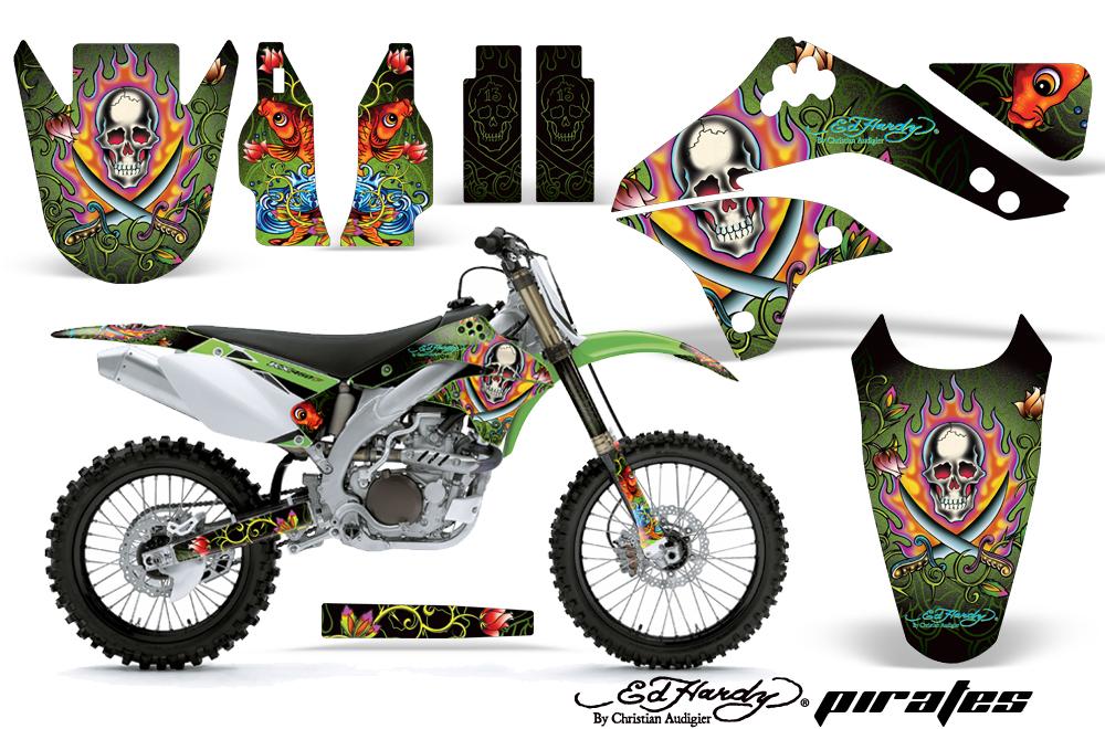 AMR デカール Ed Hardy フルキット KX450F 06-08