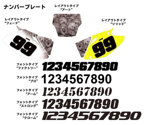 AMR デカール Ed Hardy ナンバープレート KX450F 06-08