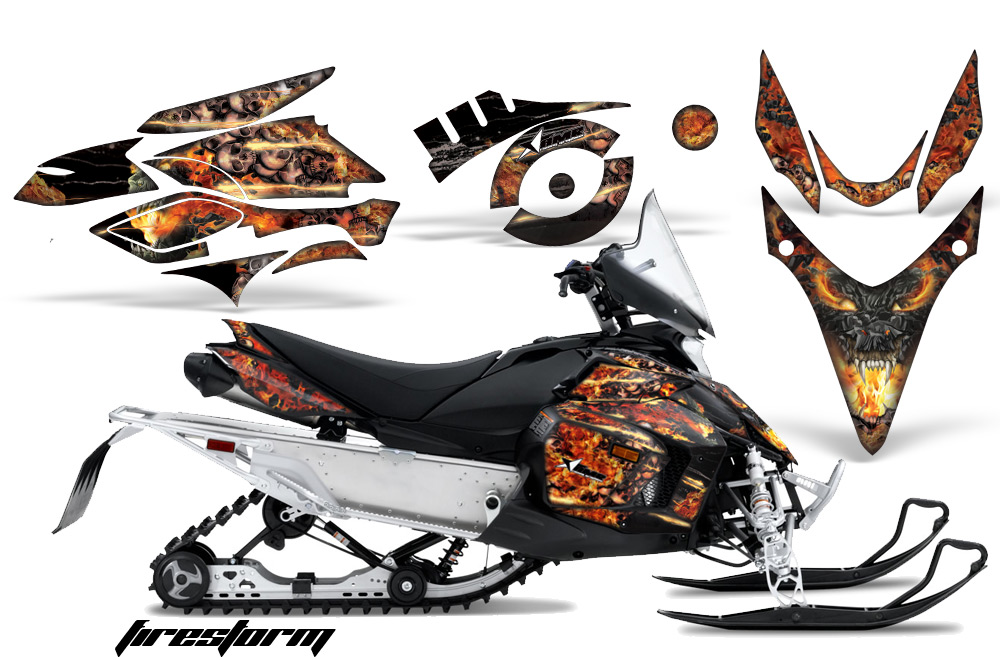 AMR デカールスノーモービル Yamaha Phazer/RTX/GT 07-11 専用グラフィックキット