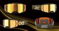 EKS Brand LUCID ルシードゴーグル ソリッドゴールド ゴールドミラーレンズ