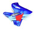 CYCRA サイクラ YAMAHA パワーフローインテークラジエターシュラウド YZ125/YZ250/YZ250X (2005-2017) 2T