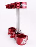 RIDE ENGINEERINGトリプルクランプキット CRF450R (09-12) CRF250R (10-13) レッド 20mm オフセット