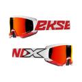 GOX クロスフェード  ホワイト・レッド  EKS Brand:イーケーエスブランドゴーグル