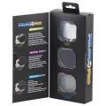 GoPro Hero4, Hero3+専用 ガラス製 スナップオン 3個フィルター Ventureコンボキット