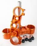 RIDE ENGINEERINGトリプルクランプキット KTM SX/XC (13-15) & EXC/XCW (14-15) オレンジ 20.5mm オフセット