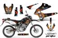 AMR デカール Ed Hardy フルキット KLX250 D-tracker X 08-13, 04-07, 98-03