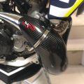 Tekmo Racing カーボンヘッドパイプカバー 2スト