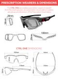 e-Tint®CTRL ONE電子式調光スマートサングラス用 度付き対応インナーフレーム