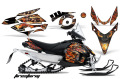 AMR グラフィックデカールスノーモービル Yamaha Phazer/RTX/GT 07-11 Ed Hardy