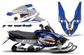 AMR グラフィックデカールスノーモービル Yamaha Vector RS 12-13 Ed Hardy