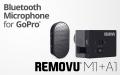 REMOVU M1+A1 ウェアラブル防水ブルーツースGoPro専用マイクロフォンキット