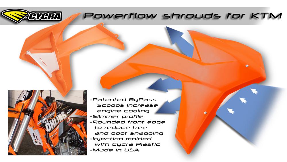 CYCRA サイクラ KTM パワーフローインテークラジエターシュラウド (2011-2012)