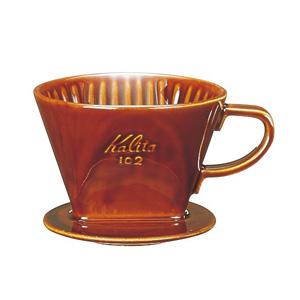 陶器製コーヒードリッパー 102-ロトブラウン 2~4杯用