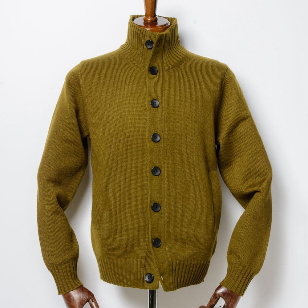 Stand-collar Knit Blouson
