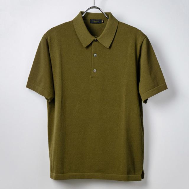 半袖ポロシャツカーキ