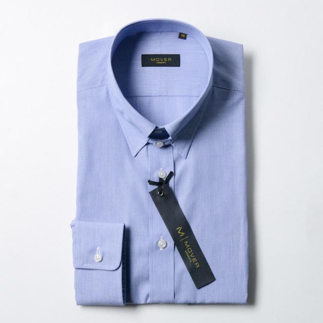 タブカラーシャツブルー
